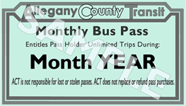 Monthly Bus Pass Sample Image